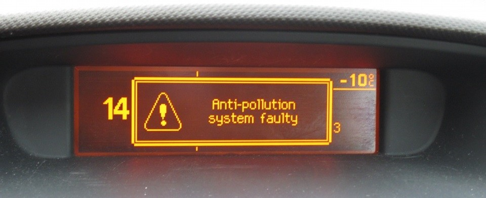 Antipollution faulty