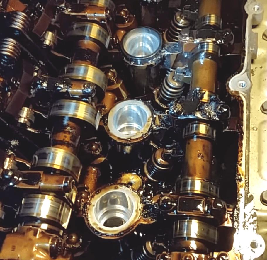 Двигатель EP6 с сильными отложениями